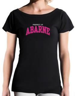 Property Of Abarne T-Shirt - Boat-Neck-Womens