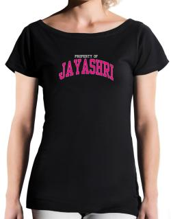 Property Of Jayashri T-Shirt - Boat-Neck-Womens