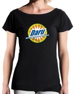 Daru - With Improved Formula T-Shirt - Boat-Neck-Womens