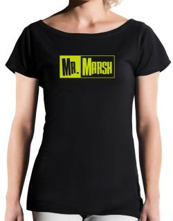 Mr. Marsh T-Shirt - Boat-Neck-Womens