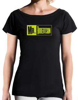 Mr. Robertson T-Shirt - Boat-Neck-Womens