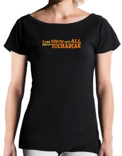 I Can Show You All About Tocharian T-Shirt - Boat-Neck-Womens
