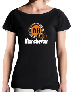 Manchester - State T-Shirt - Boat-Neck-Womens