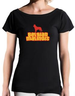 Breed Color Belgian Malinois T-Shirt - Boat-Neck-Womens
