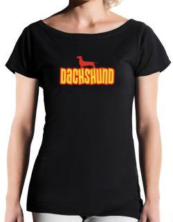 Breed Color Dachshund T-Shirt - Boat-Neck-Womens