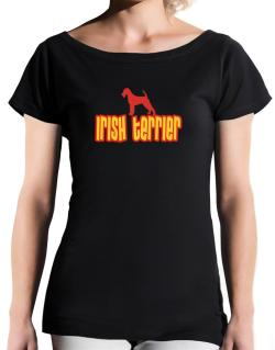 Breed Color Irish Terrier T-Shirt - Boat-Neck-Womens