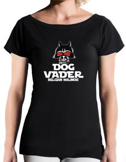 Dog Vader : Belgian Malinois T-Shirt - Boat-Neck-Womens