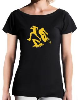 Triathlon T-Shirt - Boat-Neck-Womens