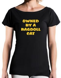 Owned By S Ragdoll T-Shirt - Boat-Neck-Womens