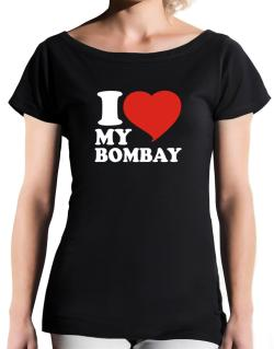 I Love My Bombay T-Shirt - Boat-Neck-Womens