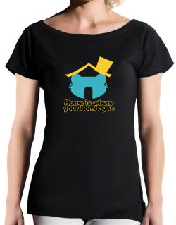 Home Is Where Bombay Is T-Shirt - Boat-Neck-Womens
