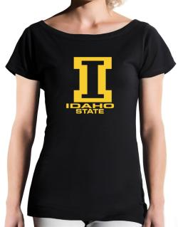 """ STATE ABC Idaho "" T-Shirt - Boat-Neck-Womens"