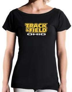 Track And Field - Ohio T-Shirt - Boat-Neck-Womens