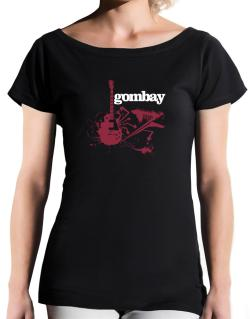 Gombay - Feel The Music T-Shirt - Boat-Neck-Womens