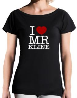I Love Mr Kline T-Shirt - Boat-Neck-Womens