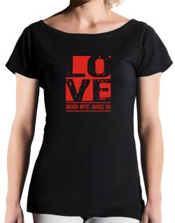 Love American Baptist Churches Usa T-Shirt - Boat-Neck-Womens