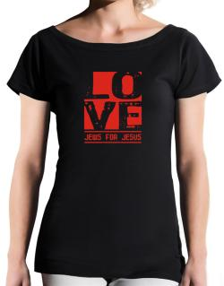 Love Jews For Jesus T-Shirt - Boat-Neck-Womens