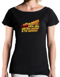Support Your Local Anglican Mission In The Americas T-Shirt - Boat-Neck-Womens