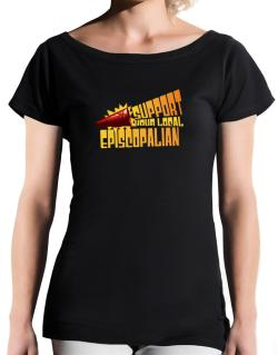 Support Your Local Episcopalian T-Shirt - Boat-Neck-Womens