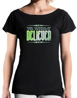 The Temple Of The Presence Believer T-Shirt - Boat-Neck-Womens