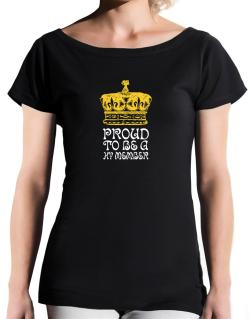 Proud To Be A Hy Member T-Shirt - Boat-Neck-Womens