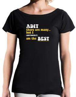 Adit There Are Many... But I (obviously) Am The Best T-Shirt - Boat-Neck-Womens