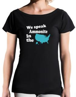 Ammonite Is Spoken In The Us - Map T-Shirt - Boat-Neck-Womens