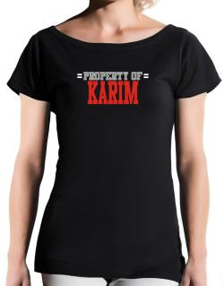 """ Property of Karim "" T-Shirt - Boat-Neck-Womens"