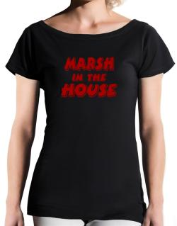 Marsh In The House T-Shirt - Boat-Neck-Womens