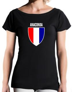 Anaconda Escudo Usa T-Shirt - Boat-Neck-Womens
