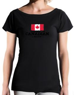 Property of Canadian Nation T-Shirt - Boat-Neck-Womens