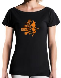 Yes, I Can Drive A Stick! T-Shirt - Boat-Neck-Womens