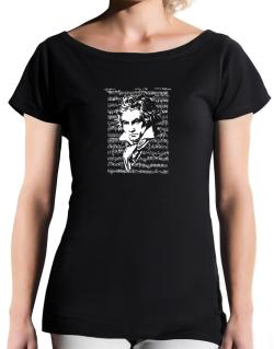 Beethoven symphony T-Shirt - Boat-Neck-Womens