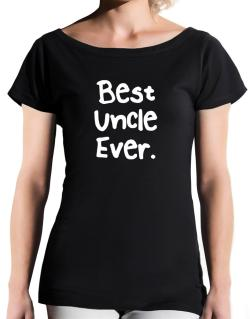 Best Uncle Ever T-Shirt - Boat-Neck-Womens