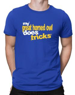 My Great Horned Owl Does Tricks Men T-Shirt