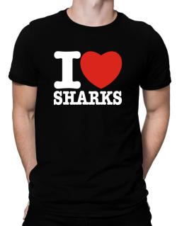 I Love Sharks Men T-Shirt