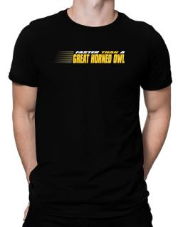 Faster Than A Great Horned Owl Men T-Shirt
