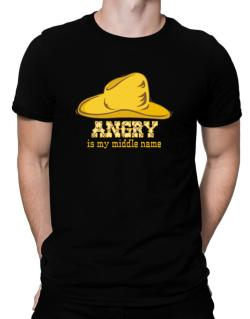 Angry Is My Middle Name Men T-Shirt