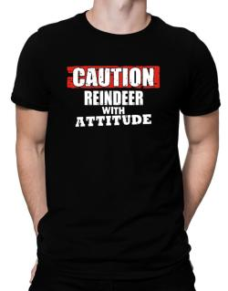 Caution - Reindeer With Attitude Men T-Shirt