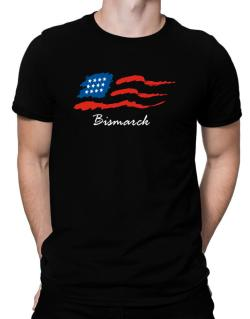Bismarck - Us Flag Men T-Shirt