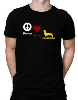 Peace, Love, Dachshund Men T-Shirt