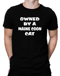 Owned By S Maine Coon Men T-Shirt