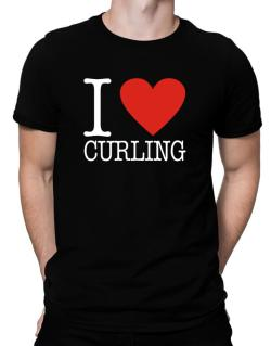 I Love Curling Classic Men T-Shirt