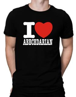 """ I love Abecedarian "" Men T-Shirt"