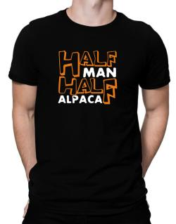 Half Man , Half Alpaca Men T-Shirt