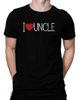 I love Auncle cool style Men T-Shirt