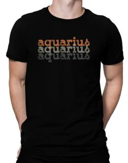 Aquarius repeat retro Men T-Shirt