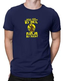 Wall And Ceiling Fixer By Day, Ninja By Night Men T-Shirt