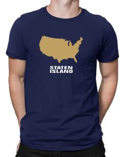 Staten Island - Usa Map Men T-Shirt