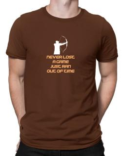 Archery Never Lost A Game Just Ran Out Of Time Men T-Shirt